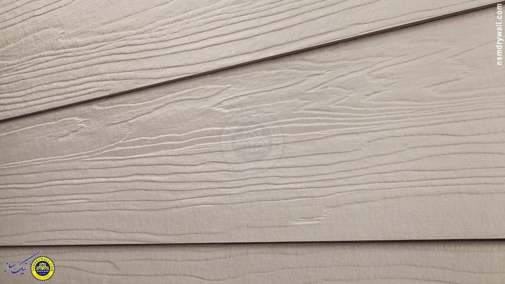 فایبر سمنت بورد ، پروفیل سمنت برد ، سمنت بورد طرح چوب ، سقف کاذب ...00259 - نمای سایدینگ با پانل فایبرسمنت طرح چوب پیش از رنگ (رنگ خام سیمان